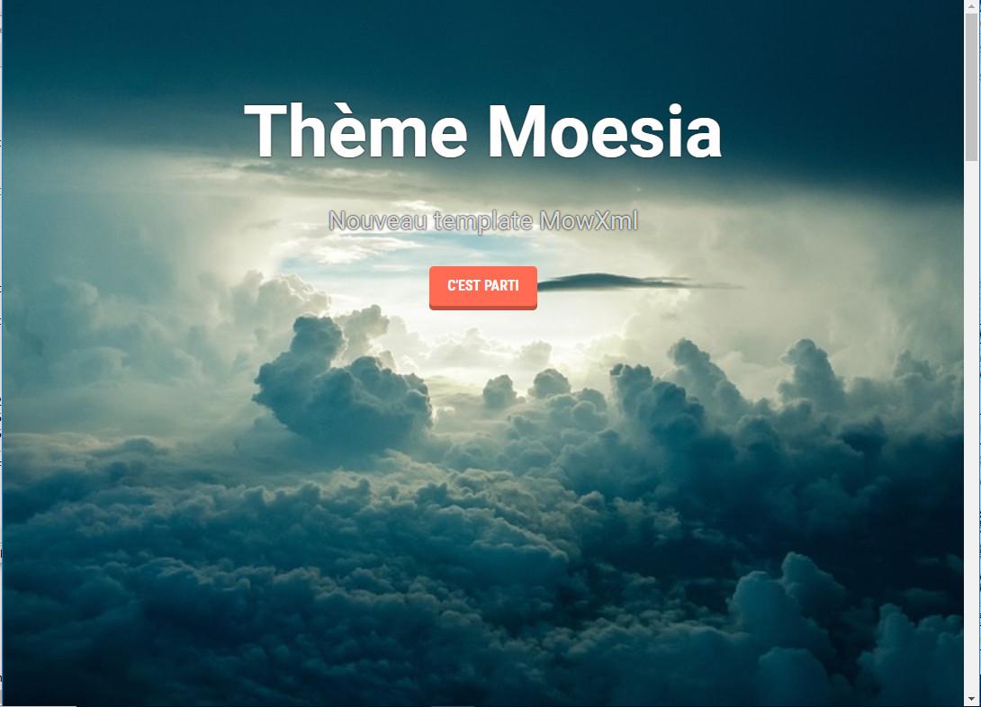 Thème Magazine, Nouveau template MowXml, Black Panda, Communauté